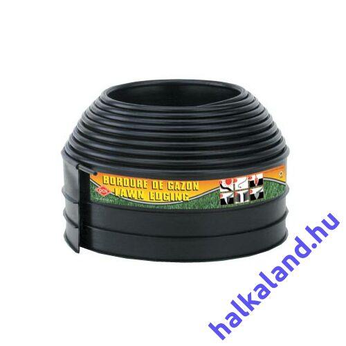 Ágyásszegély 10,2cm x 6,1m fekete Econo 3000 BKNS kerek
