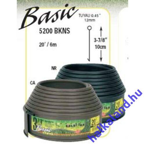 Ágyásszegély 9,9cm x 6,1m fekete Basic 5200 BKNS kerek
