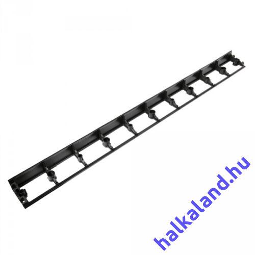 Ágyásszegély OBRB45 alacsony fekete 1025x75x45mm 12dbxcsomag Bradas