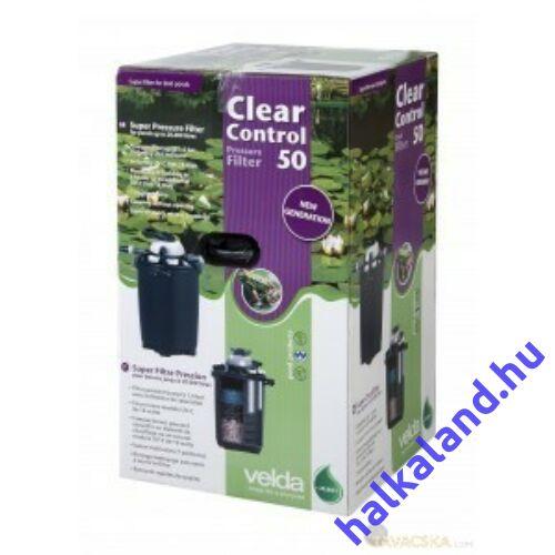 Clear Control 50 nyomás alatti szűrő 18 wattos UVC-vel, 20 m3 vízhez