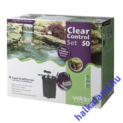 Clear Control 50 nyomás alatti szűrő szett (CC50+UV-C18W+HS6000 pumpa) 20m3 vízhez
