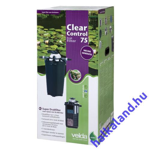 Clear Control 75 nyomás alatti szűrőszett (CC75+UV-C36W+ HS8000 pumpa) 30 m3 vízhez