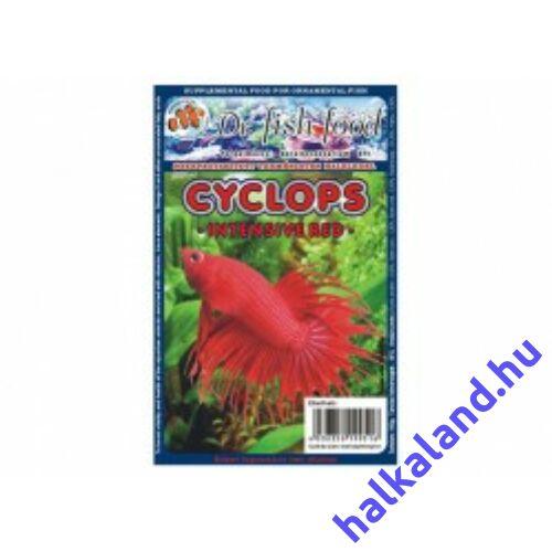 Dr. Fishfood Fagyasztott Cyclops intentív vörös vitaminozott több méretben