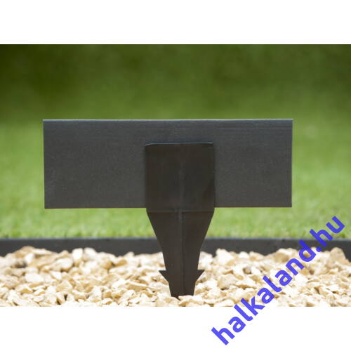 Gyepszegély fekete 9cmx15m vastagság 4,5mm+15db leszúró tüske