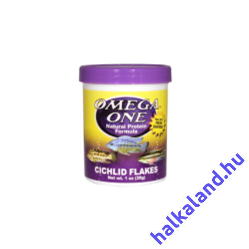 Omega One Cichlid Flakes 28 gramm - Akváriumi haleledel