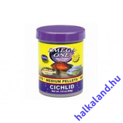 Omega One Medium Cichlid Pellets /98gramm/ - Akváriumi haleledel