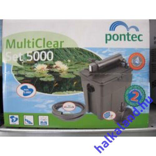 Pontec MultiClear Set 5000 többkamrás átfolyó szűrőkészlet UVC-vel