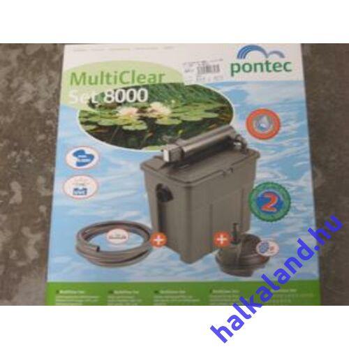 Pontec MultiClear Set 8000 többkamrás átfolyó szűrőkészlet UVC-vel