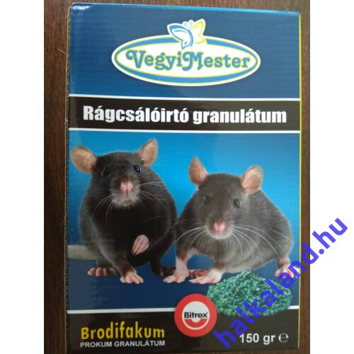 Prokum rágcsálóírtó granulátum .150 g 25ppm brodifakum