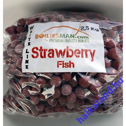 White Lien Strawberry Fish 20mm-es etető bojli